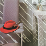 Art Inspired Wallpaper - Gorgeous Wallpaper - Vintage - We're all obsessed with 70's design trends, and we didn't even know it